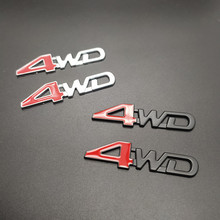 new 2pcs 3D Chrome Metal Sticker 4WD Emblem 4X4 Badge Decal Car Styling for Honda CRV Accord Civic Suzuki Grand Vitara Swift SX4 стоимость