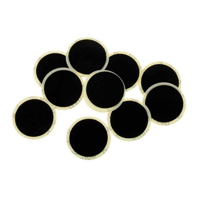 10 Fietsen Mtb Fietsband Patch Punctie Snelle Reparatie Tool 25Mm Zwarte Fiets Binnenband Patches Zonder Lijm Fiets reparatie Tools