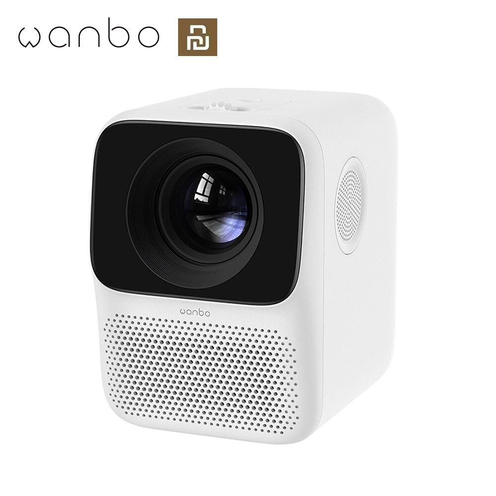 Wanbo t2 livre lcd projetor led mini projetor portátil suporte completo hd 1080p cinema em casa teatro tv beamer