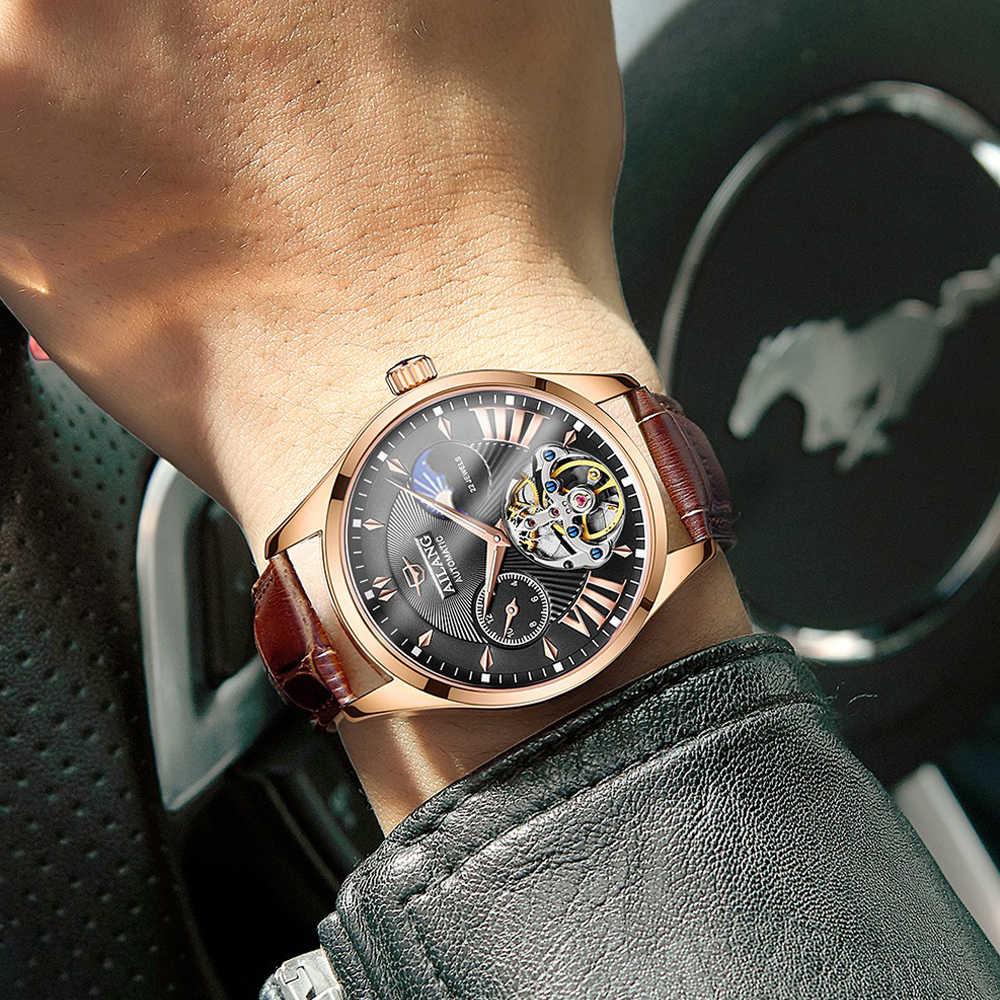 Reloj de calidad AILANG Tourbillon para hombre reloj automático de diésel suizo reloj de hombre luminoso impermeable reloj de bu