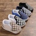 Классическая клетчатая обувь для малышей; обувь для новорожденных мальчиков и девочек; мягкая хлопковая повседневная спортивная прогулочн...