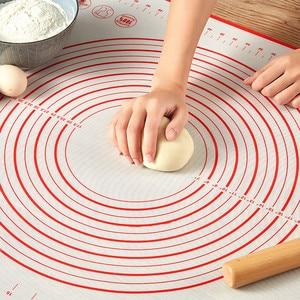 Amassar a massa de silicone esteira de cozimento pizza massa fabricante pastelaria cozinha cozinhar gadgets bakeware amassar almofada acessórios