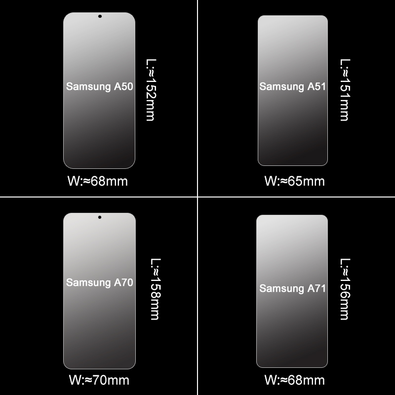 3Pcs Full Clear Tempered Screen Protector Glass For Samsung Galaxy A51 A71 A50 A70 5