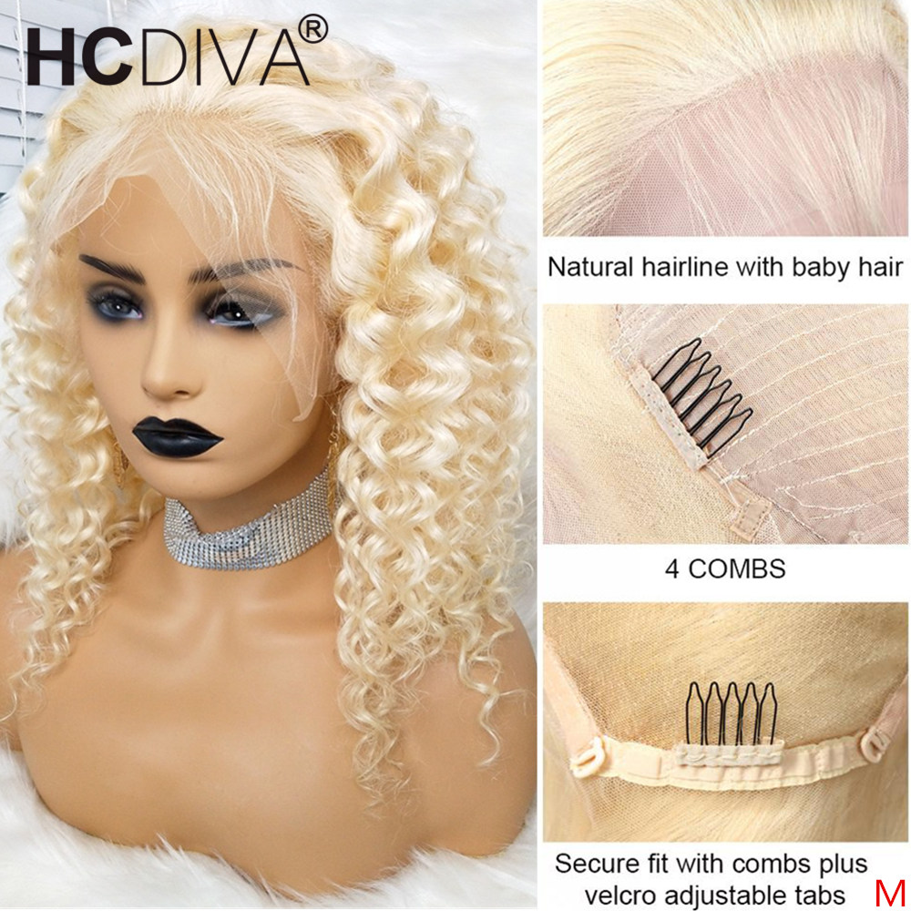 613 Blonde Lace Front Human Hair Wig 360 Brazilian Loose Deep Wave Wig Transparent 13x4/13x6 Lace Front Wig Remy Human Hair Wigs