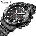 Megir Quartz часы в стиле милитари мужские s часы лучший бренд класса люкс мужские часы хронограф светящийся водонепроницаемые мужские часы Erkek ...