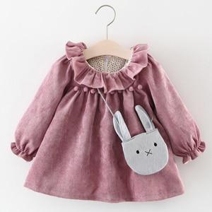 Melario Newborn Baby Girl Dress Autumn Princess Dresses for Kids Dress Cute Baby Dress withe Bag Infant Clothing Toddler Dress(China)
