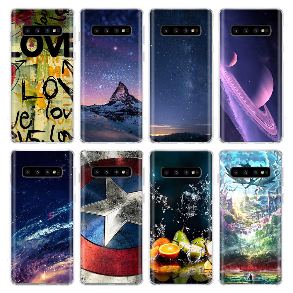 Note 10 Case for Samsung Galaxy Note 10 Case Soft TPU Printed Phone Case Silicon Back Cover For Samsung Note 10+ Pro Note10 Plus