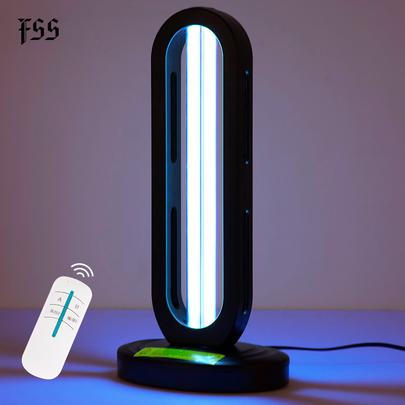 FSS 110V- 220V Ultraviolet Lamps 38w Uv Light Sterilizer With Ozone Remote Control Disinfection Household Indoor Light Fixtures