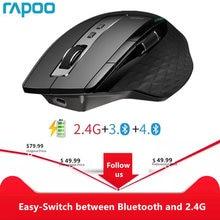 Rapoo MT750L/MT750S Mouse Wireless multimodale ricaricabile facile da passare da Bluetooth a 2.4G fino a 4 dispositivi per PC e Mac