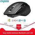 Перезаряжаемая многорежимная Беспроводная мышь Rapoo MT750L/MT750S, легкое переключение между Bluetooth и 2,4 ГГц до 4 устройств для ПК и Mac
