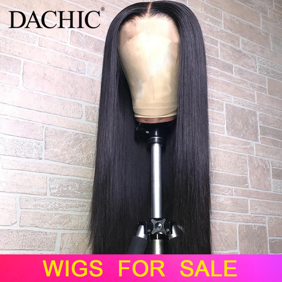 Straight Lace Front Human Hair Wigs Pre Plucked 8-26 Inch 13x4 150% 180% Brazilian Remy Hair Lace Frontal Wig