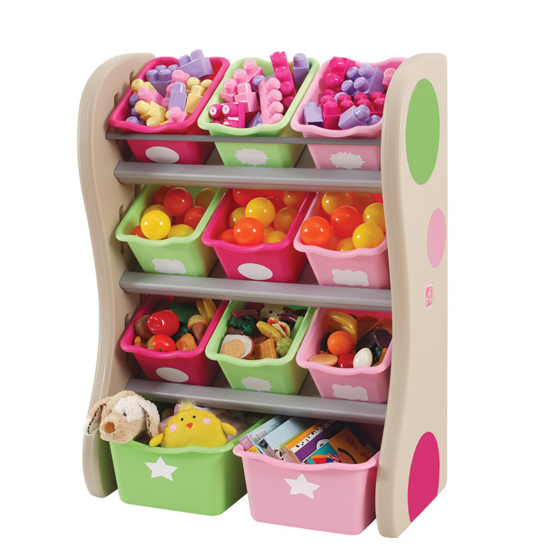 America Import Toy Step2 Furniture Storage Series Toy Fun Space Storage Division (Two)