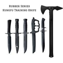 Резиновая серия боевых искусств, тренировочный короткий меч Tomahawk, уличный резиновый материал, неметаллический