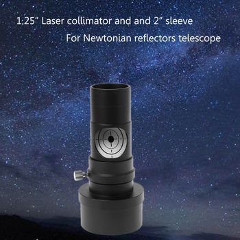 hd large aperture 76mm newtonian reflector astronomical telescope 350 times zooming reflective for space observation f76700 1.25 Laser Collimator 2 Sleeve for Newtonian Reflector Telescope Astronomical Telescope Accessories Eyepiece Laser adapt