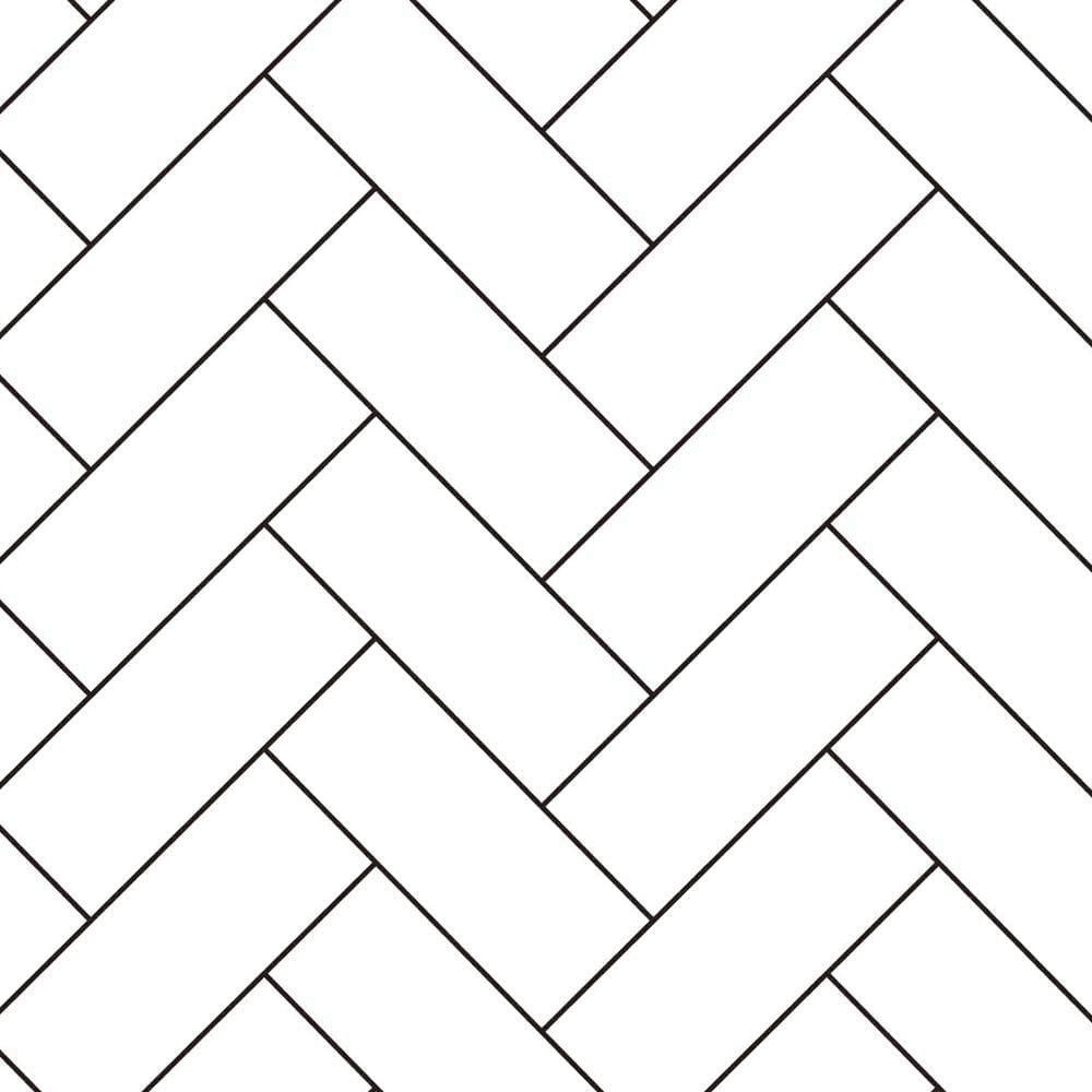 Linhas geométricas de vinil papéis brancos casca e vara papel parede removível auto adesivo quarto para decoração casa