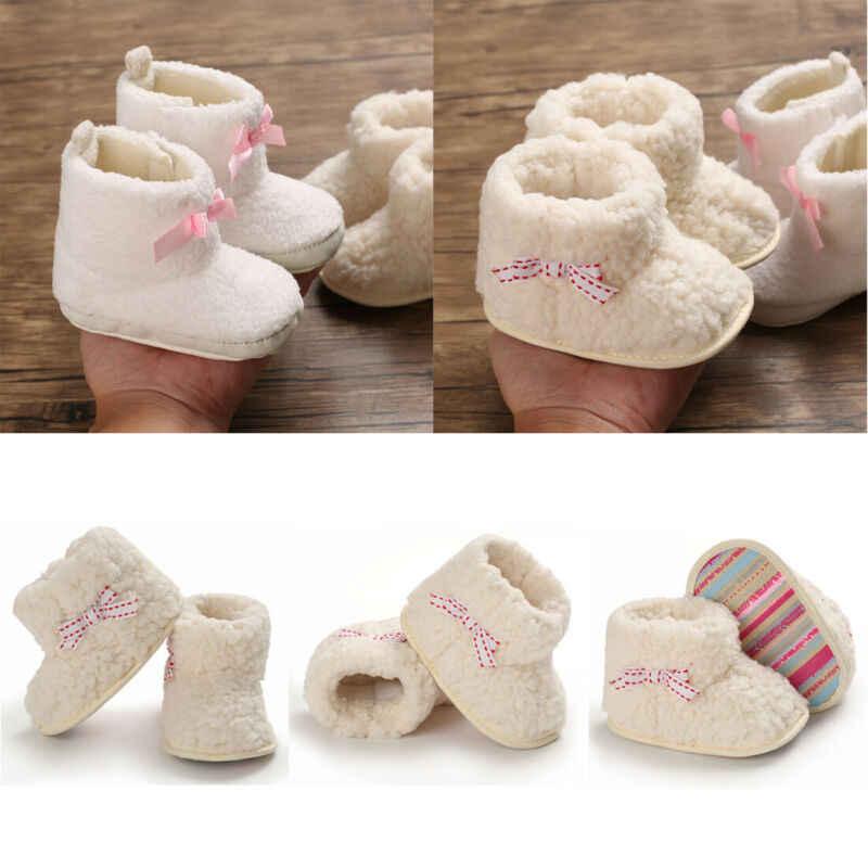เด็กทารกแรกเกิดเด็กสาวรองเท้า Soft Sole รองเท้าบู๊ตหิมะฤดูหนาว WARM FUR รองเท้า Crib