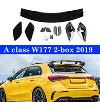 ABS Bright Black Rear Spoiler Back Wing Lips For Mercedes A class W177 2 Box A180 A200 A250 A45 2019+
