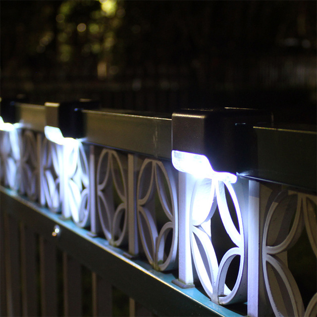 16pcs LED Solar Lamp Path Stair Outdoor Waterproof Wall Light Garden Landscape Step Stair Deck Lights Balcony Fence Solar Light 2