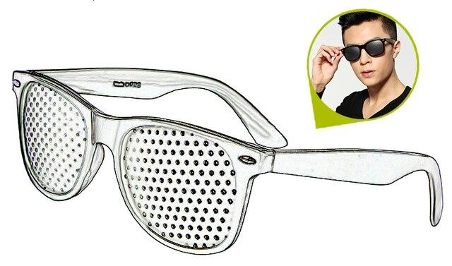 Preto melhoria da visão exercício de cuidados óculos treinamento ciclismo eyewear pino pequeno buraco óculos de sol acampamento 3