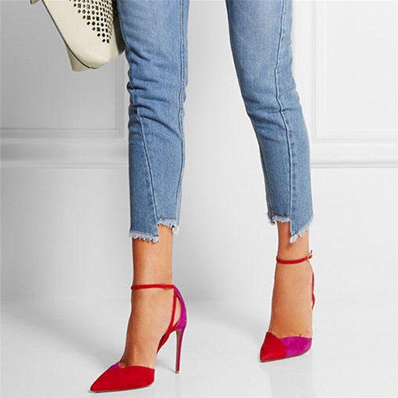 YECHNE Party Sexy Summer Pumps 2020 Women 12 CM High Heels Sandals Fashion Plus Size 33 - 43 Red High Heels Sandals