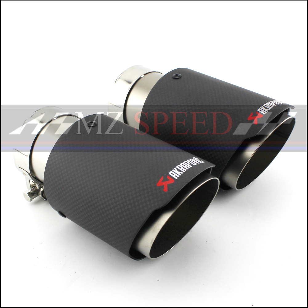 1pcs car Accessories Free shipping exhaust pipe tail throat AKRAPOVIC for BMW E46 E60 E90 straight side dumb muffler tail pipe