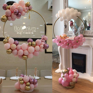 Balloon Arch Balloons Ring Stand for Baby Shower Wedding Decoration Balloons Round Hoop holder birthday party baloon ballon