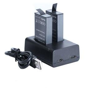Image 4 - Für GoPro MAX Schnelle Lade USB Batterie Dual Ladegerät Halter Für GoPro MAX Action Kamera Zubehör