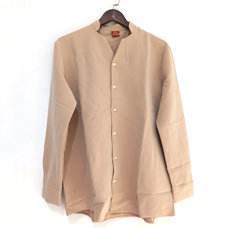 H63a7034da4374f40b49f971c9feb9127N IEFB /men's wear 2020 autumn casual stand collar solid color shirt for male Personality Trend Handsome Long Sleeve s 9Y899