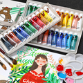 Professional Acrylic Paints Set 12/18/24 /36 Colors 12ML Hand Painted Wall Drawing craft Painting Pigment Set Art Supplies