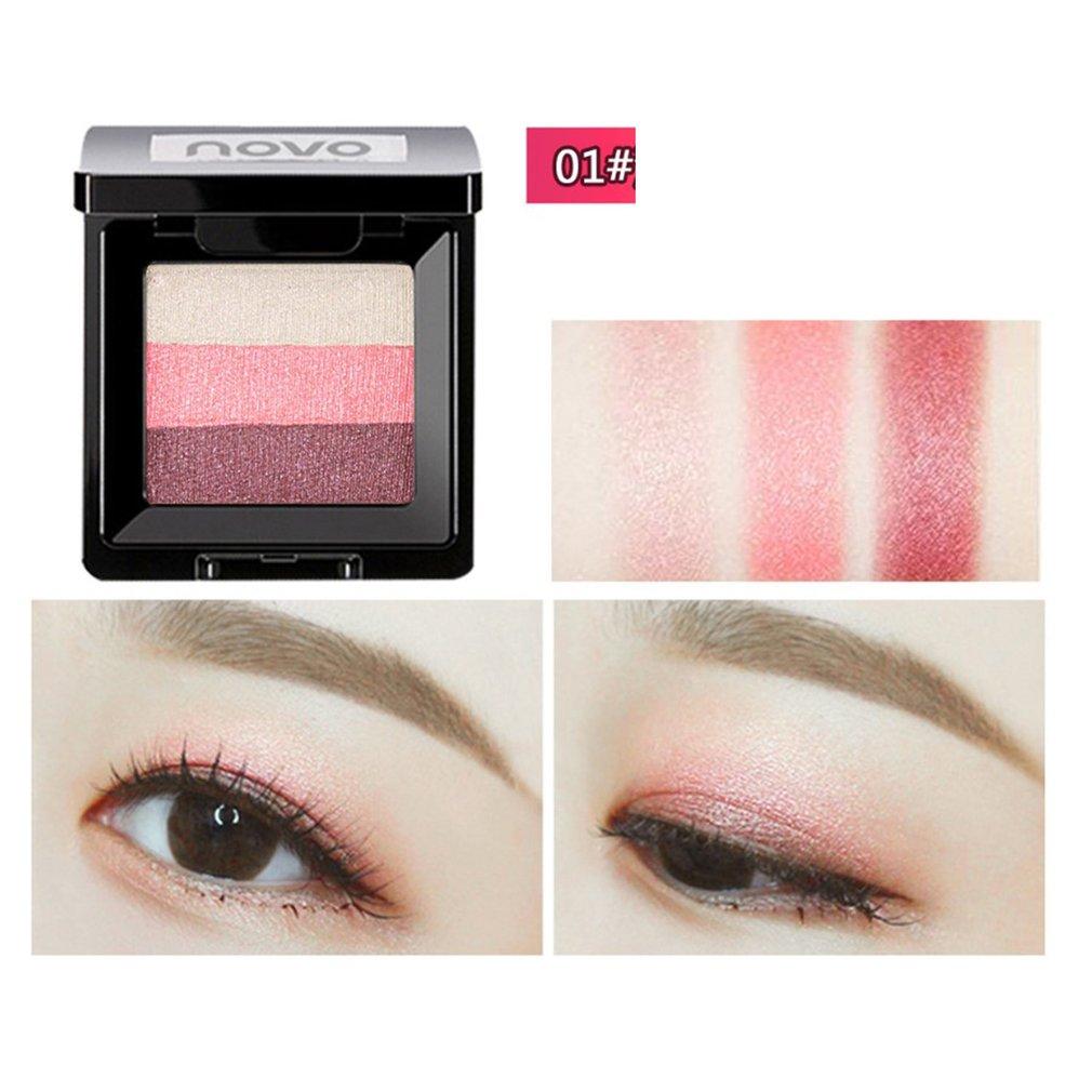 Novo tri cor gradiente olho sombra bandeja