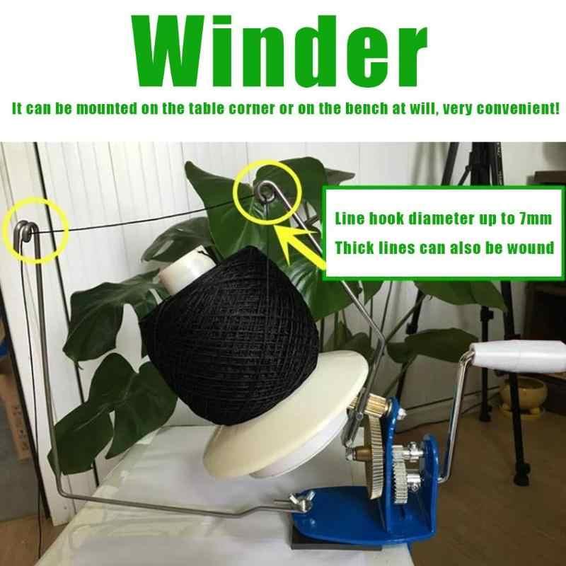 كبير المعادن الغزل الألياف سلسلة الكرة الصوف اليد تعمل كابل اللفاف آلة المنزلية حامل اللفاف الألياف أدوات خياطة