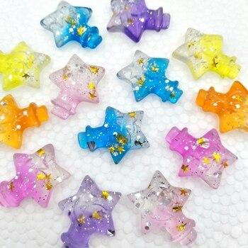 цена на 18Pcs Kawaii Cute Star bottle Flat back Resin Cabochons Scrapbooking DIY Jewelry Craft Decoration Accessories