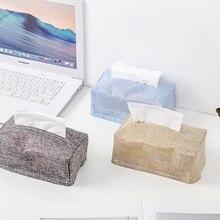Тканевый настольный декор, домашний автомобильный тканевый набор для хранения, коробка для хранения, креативная имитация воды, хлопок, лен, для хранения, TissueBox