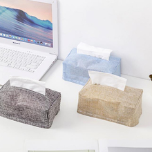 Fabric Table Top Decoration Household Car Storage Tissue Set Storage Box Creative Imitation Water Cotton Linen Storage TissueBox все цены