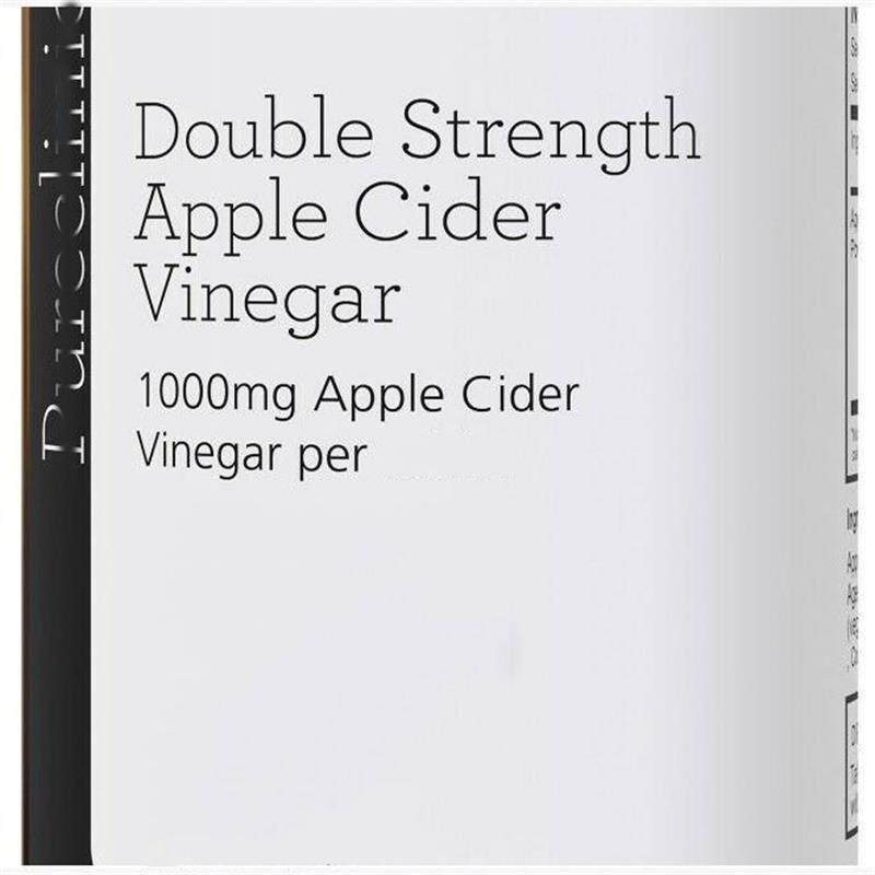 Vinaigre de cidre de pomme Double résistance 1000mg x 180p = 1 bouteille