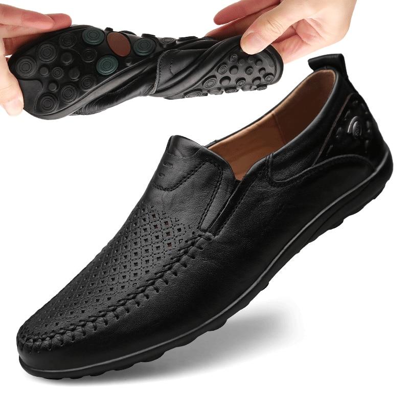 Mocassins masculinos casuais, italianos, sapatos de couro genuínos, mocassins para homens, slip on, sapatos baixos, respirável, btmottz