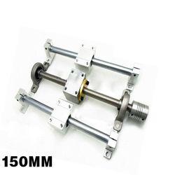 150mm 250mm 350mm poziome podwójne śruba prowadnicy liniowe wspornik szyny zestaw prowadnic w Części do narzędzi od Narzędzia na
