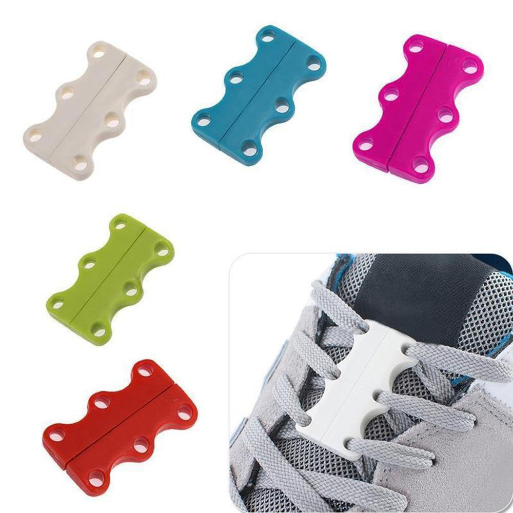 Hot  New 1 Pair Funny ShoeLace Novelty Closure Magnetic Lazy Fast Closing Shoe Buckles Sneaker Casual Fashion No-Tie Shoe Laces