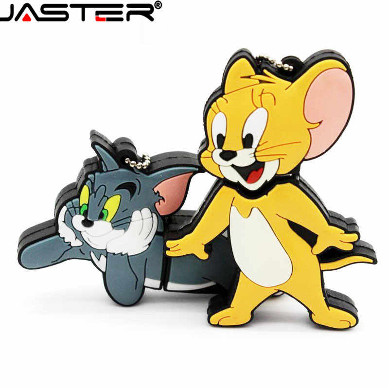 Jaster Hot Fashion Cartoon Tom Cat En Jerry Mouse % 100 Real Capaciteit Usb 2.0 4Gb 8Gb 16gb 32Gb 64Gb Gift Usb Flash Memory Stick
