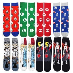 Новинка носки Super Mario Bro Аниме/мультфильм/геймеры/носки перекрещивающиеся с животными новинка носки для мужчин и женщин