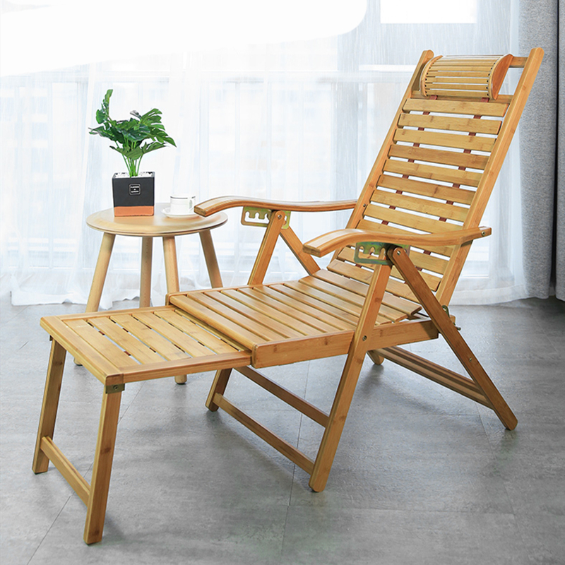 Bamboo Chair Recliner Folding Lunch Break Summer Cool Balcony Home Leisure Nap Backrest Lazy Summer Bamboo Chair