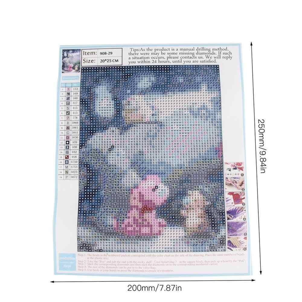 עגול שרף Kawaii דוב דפוס רקמת ציורי שהודבק DIY יהלומי ציור צלב תפר רקמה ציור