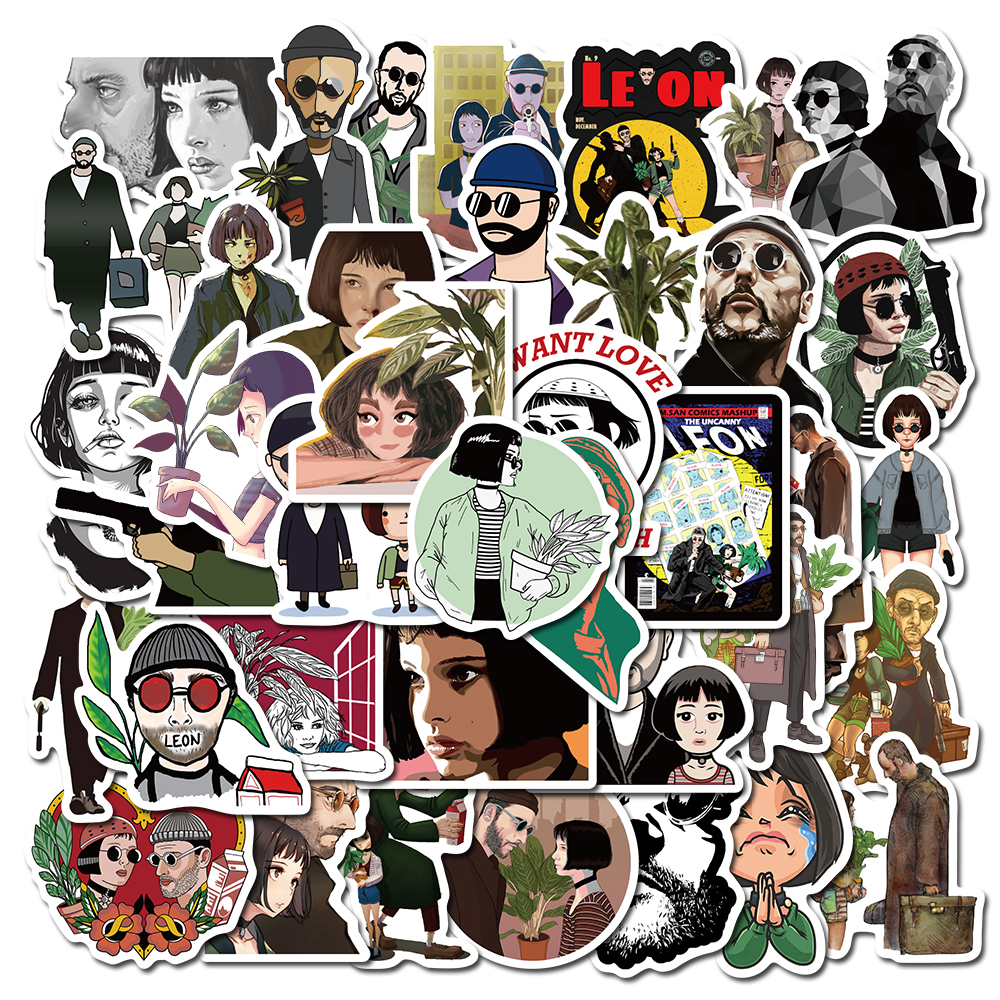 50pcs Movie Stickers Leon The Professional For Car Laptop Backpack Home Decal Pad Bicycle Phone Waterproof Decal