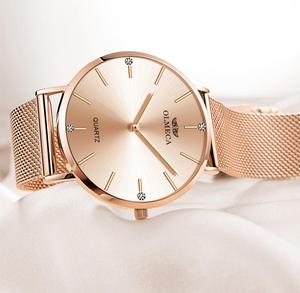 Image 3 - OLMECA Reloj de lujo para mujer, reloj de pulsera femenino, resistente al agua, envío directo