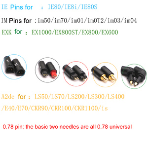 Image 5 - Mini MMCX to 0.78 IE80 IM A2DC EXK QDC JH Headphone Pin Transfer for IE80/IM50/LS50/EX1000 T1120