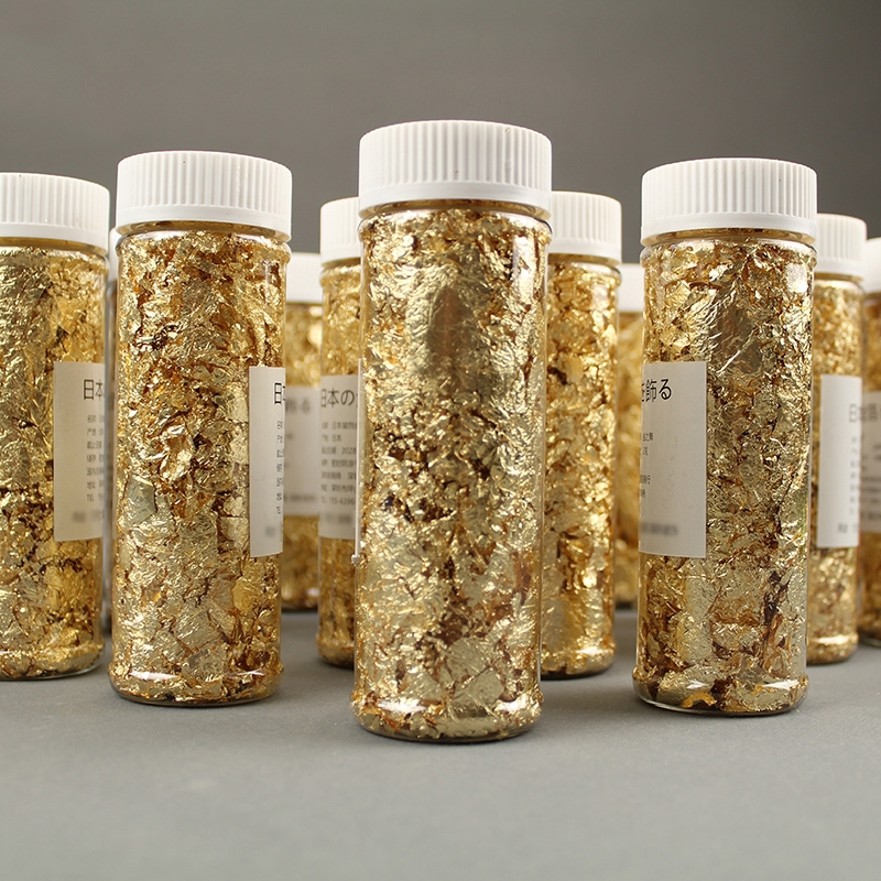 5PCS Cake Decorating Tools Edible Grade Genuine Gold Leaf Schabin Flakes 2g 24K Gold Decorative Dishes For Chef Art Chocolates