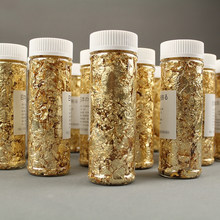 5PCS Cake Decorating Tools Edible Grade Genuine Gold Leaf Schabin Flakes 2g 24K Gold Decorative Dishes for Chef Art Chocolates(China)