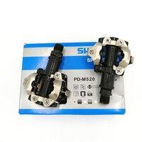 الدراجات الدواسات SPD M520 الذاتي قفل دواسة مع SH51 المربط مجموعة الأصلي PD M520 الدراجة الجبلية MTB دواسة|دوّاسة للدراجة|   -