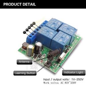 Image 3 - Controle remoto 433mhz 220v 4ch 10a, receptor de relé e transmissor para controle remoto de garagem e controle remoto interruptor de luz