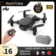 Xkj 2020新ミニドローン4 18k 1080 1080p hdカメラwifi fpv空気圧高度ホールド黒とグレー折りたたみquadcopter rc dronおもちゃ